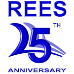 REES's 25th Anniversary logo